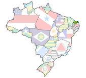 Rio grande fa norte mappa del brasile — Foto Stock