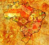 De rio grande do norte en mapa de brasil — Foto de Stock