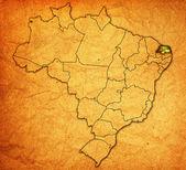 Rio grande do norte on map of brazil — Stock Photo