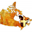 Quebec on map of canada — Stock Photo #43296063