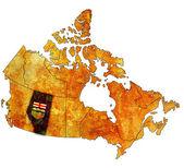 Alberta on map of canada — Stock Photo
