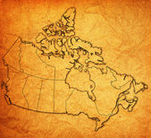 Administration map of canada — Photo