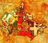 Administration map of canada — ストック写真