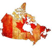 加拿大的行政地图 — 图库照片