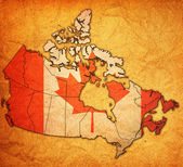 Administration map of canada — Stock Photo