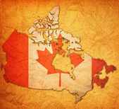 Territory map of canada — ストック写真