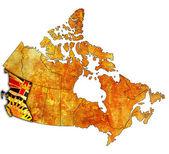 British columbia on map of canada — Stock Photo