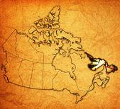 Newfounland ・ ラブラドール州カナダの地図 — ストック写真