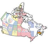 New brunswick on map of canada — Stock Photo