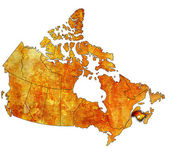 New brunswick on map of canada — Stock Photo