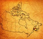 New brunswick mappa del canada — Foto Stock