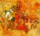 Northwest territories on map of canada — ストック写真
