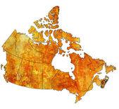новая шотландия на карте канады — Стоковое фото
