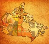 Prince edward Island Kanada Haritası üzerinde — Stok fotoğraf