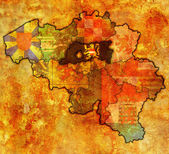 Flemish brabant on map of belgium — Foto Stock