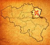 Limburg on map of belgium — Stock Photo