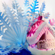 House and snowflake — Stock Photo