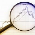 Analyzing the stock market — Stock Photo