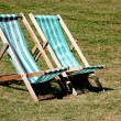 Stock Photo: Pair of Deck Chairs