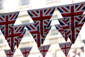 Union Jack British bunting — Stock Photo