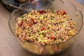 Vegetarian Rice Salad — Stock Photo