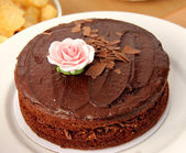 Rich Chocolate Cake — Stock Photo