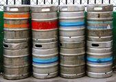 Stack of Beer Kegs — Stock Photo