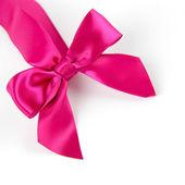 Różowa satynowa kokardka — Zdjęcie stockowe