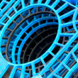 Industrial Blue Plastic Stacks — Stock Photo