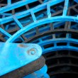 Industrial Blue Plastic Stacks — Stock Photo #18070957