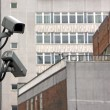 CCTV Cameras on side of building — Stock Photo