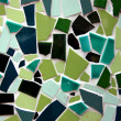 Green Mosaic crazy tiling — Stock Photo