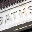 Stock Photo: Public Baths signage