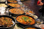 Market Stall Cooked food take away restaurant — Stock Photo