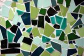 Green Mosaic crazy tiling — Stock Photo