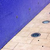 Deep Blue mosaic tiled wall — Stock Photo