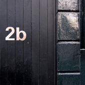 Residential house number — Stock Photo