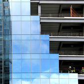 Glass and Steel Building structures — Stock Photo