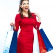 Positive smiling woman — Stock Photo