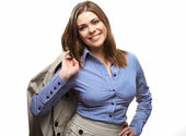 Business woman isolated portrait — Stock Photo