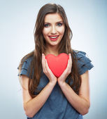Beautiful woman Valentine day symbol. — Stock Photo