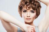 Close up beauty studio shoot. — Stock Photo