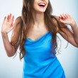 Young happy woman isolated portrait. — Stock Photo