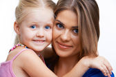 Young mother and girl. — Stock Photo