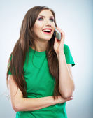 Young woman phone call. — Stock Photo