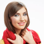 Gülümseyen kadın rahat tarzı portre. — Stok fotoğraf
