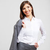 Business woman portrait isolated on white — Stock Photo