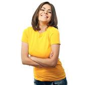 Happy woman isolated portrait — Stock Photo