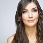 Smiling woman face portrait — Stock Photo #34468675
