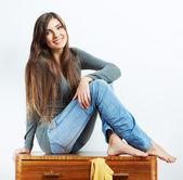 若い女性自宅で — ストック写真